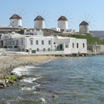 Mykonos Kayak Tour - Windmills on Mykonos